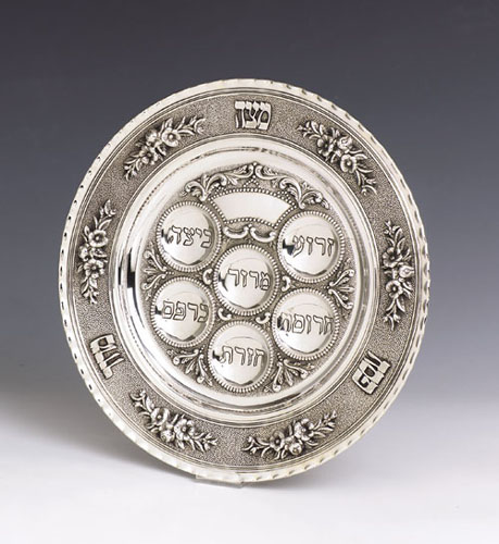 see specials on silver religious articles - Silver Seder Plates