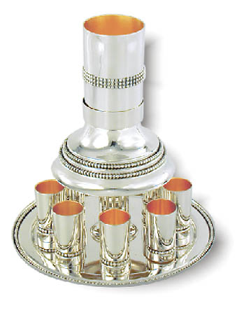 see specials on large silver candlesticks - Silver Kiddush Fountains